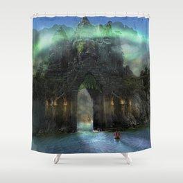 The Jade Gates Shower Curtain