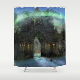 The Jade Gates Shower Curtain