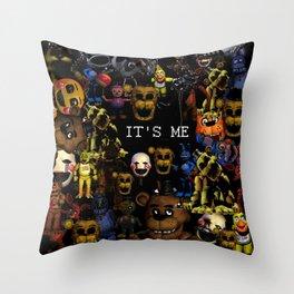 FNAF Cluster Design Throw Pillow