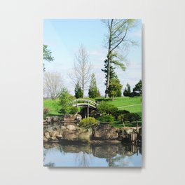 Bridge over untroubled waters Metal Print