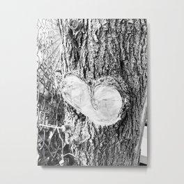 Through my child's eyes Sappy heart black and white Metal Print