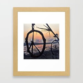 A peace-full sunset #3 Framed Art Print