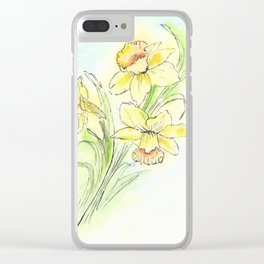 Yearning for Spring Clear iPhone Case