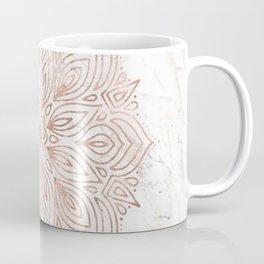 Mandala Rose Gold Quartz on Marble Coffee Mug