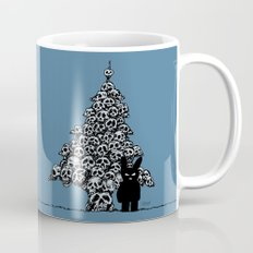 The Black Bunny of Doom and his Skull Christmas tree Mug