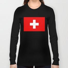 Flag of Switzerland - Swiss Flag Long Sleeve T-shirt