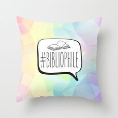 #Bibliophile - Colorful Throw Pillow