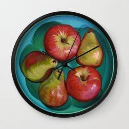 Apple Bowl Wall Clock
