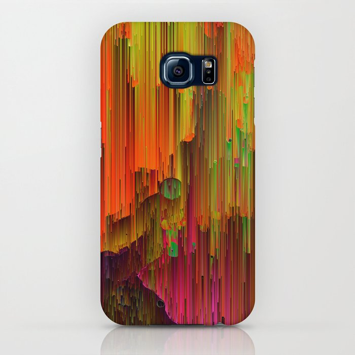 Radioactive Abstract Glitched Pixel Art Iphone Case