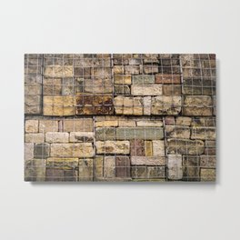 Caged Stones Metal Print