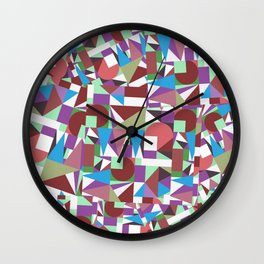 Cropped Shapes Wall Clock