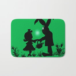 Silhouette Easter Bunny Gift Bath Mat