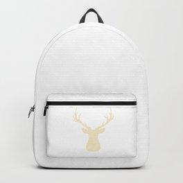 Deer - beige strips. Backpack