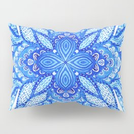watercolor blue mandala Pillow Sham