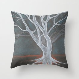 White Tree Throw Pillow
