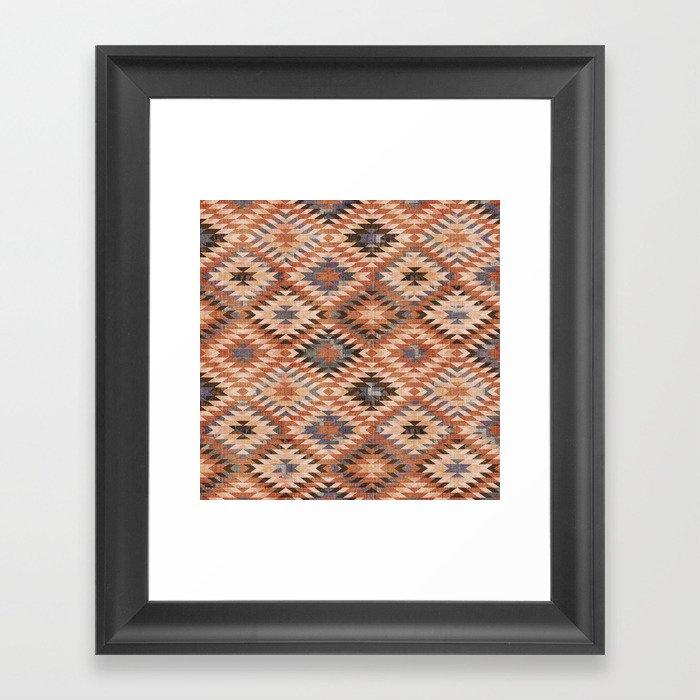 Arizona Southwestern Tribal Print Gerahmter Kunstdruck