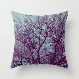 1000 Words on Twilight and Aubergine Throw Pillow