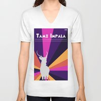 tame impala V-neck T-shirts featuring Tame Lsd by OEVB