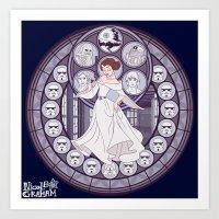 leia Art Prints featuring Leia by NicoleGrahamART