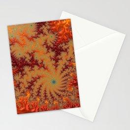 Crimson Alley - Fractal Art Stationery Cards
