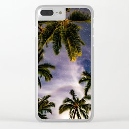 Palm Trees and Stars in Maui Clear iPhone Case