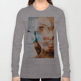 faces of Angelina Jolie Long Sleeve T-shirt