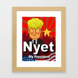 Nyet My President Framed Art Print