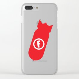 F Bomb Clear iPhone Case
