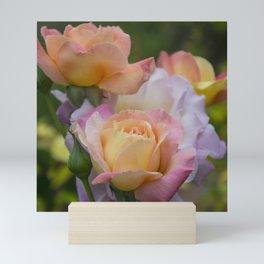 Pastel roses Mini Art Print