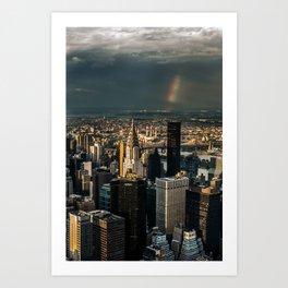 Manhattan - great sky Art Print