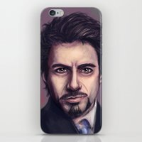 stark iPhone & iPod Skins featuring Tony Stark by pandatails