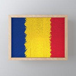 Extruded flag of Romania Framed Mini Art Print
