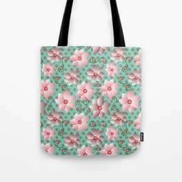 Blossoms in Strawberry Ice Tote Bag