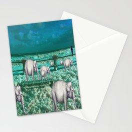 Elefantes en movimiento. Stationery Cards