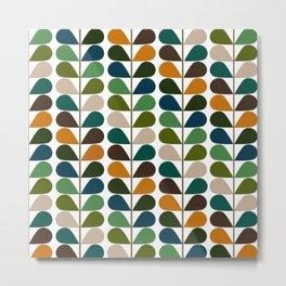 Mid Century Modern Fern Pattern Metal Print