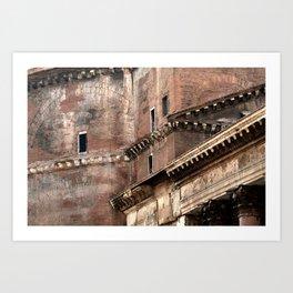 Pantheon of Rome Side View Kunstdrucke