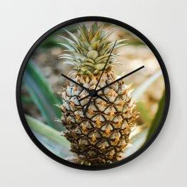 Tropical Pineapple | Tropical Nature Macro Photography Wall Clock