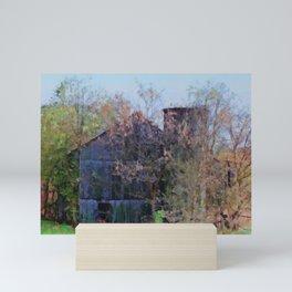 Old Barn and Silo PhotoArt Mini Art Print