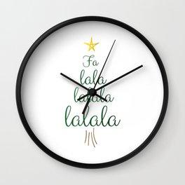 Falalala Tree Wall Clock
