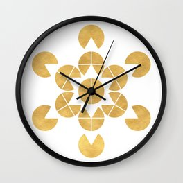 STAR TETRAHEDRON MERKABA sacred geometry Wall Clock