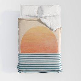 Morning in Paradise ~ Tropical Sunrise Duvet Cover