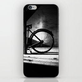 Old bicycle in a dusty attic iPhone Skin
