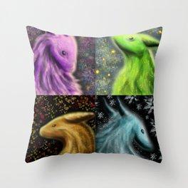 Four Seasons Dragons Throw Pillow