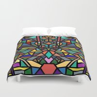 stained glass Duvet Covers featuring stained glass by westchestrian_art