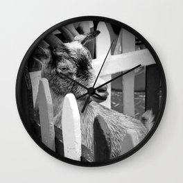 Hungry Goat Wall Clock