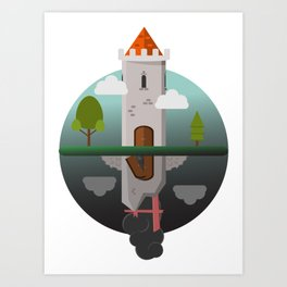 Everything Falls - Two Towers;One Standing, One Fallen Art Print