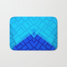 Blue Brick Two Tone Pattern Bath Mat