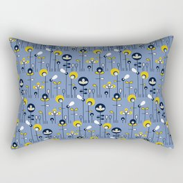 retro flower field Rectangular Pillow