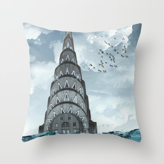 above the water line Throw Pillow