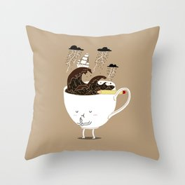 Brainstorming Coffee Throw Pillow